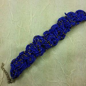 Bracelet Artisian Purple gold glass bead